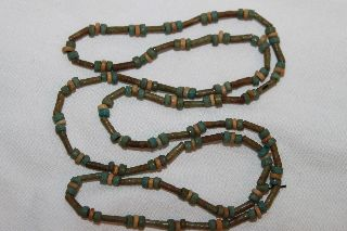 Egyptian Faience Restrung Bead Necklace 30th Dynasty photo