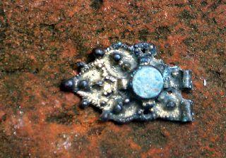 Carolingian Frankish Silver Gilt Buckle Plate photo