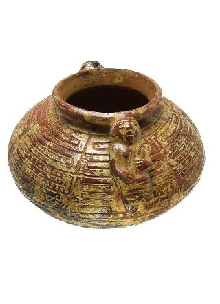 Pre - Columbian Ceramic Sinu Women Water Pitcher/cantaro Replica photo