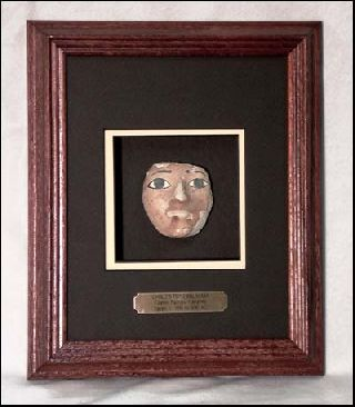 Framed Cast Egyptian Child ' S Mummy Mask 200ad photo