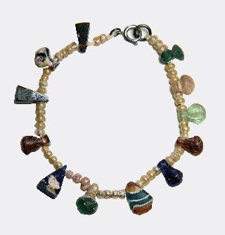 Romano - Egyptian Glass Bead Bracelet photo