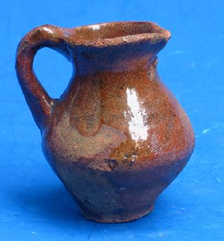 Authentic Early 17th Century Dutch Miniature Milk Jug. photo