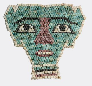 Egyptian Faience Bead Mummy Mask photo