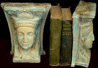 Egyptian Queen Isis Sculpture Bookends Goddess 14023 photo