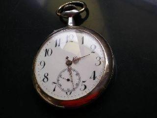 Antique 1900 ' S Roskopf Patent Men ' S Big Size Pocket Watch Swiss photo