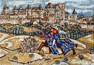 Masterpiece Mosaic Tile Stones Art Wall Mural photo