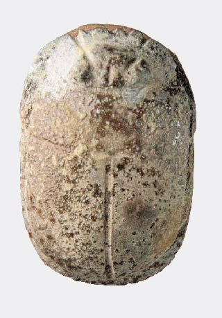 Egyptian Glazed Stone Heart Scarab photo