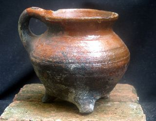 Early 16th Century Dutch Ceramic Cooking Pot,  Cauldron photo