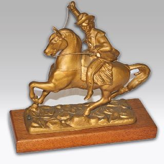 Antique Casting Of Buffalo Bill On Wooden Plinth From 1900 ' S - Usa photo