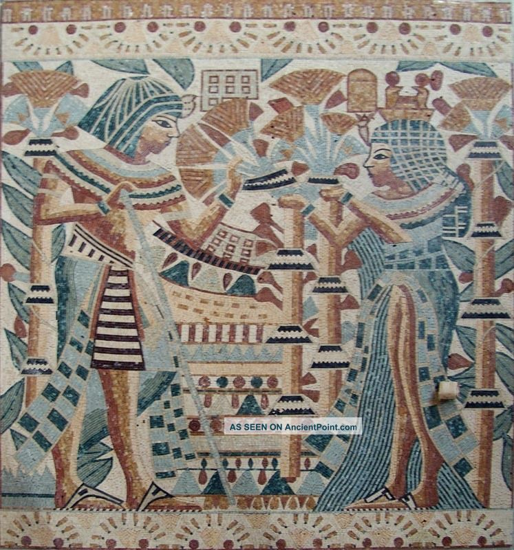 Pin mosaic arts murals mermaid designjpg on pinterest for Egyptian wall mural