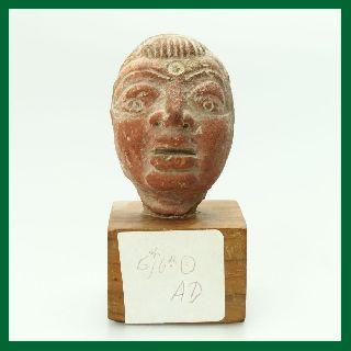 Ancient Pre - Columbian Terracotta Tribal Art Head photo