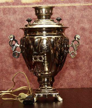 Vintage Russian Electric Samovar / Tea Urn photo