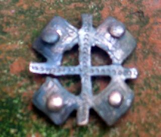 Interesting Belt Piece With Cross,  Copper.  England. photo