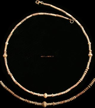 Ancient Coptic Faience Bead Necklace Red Pastel Shades 1 - 3 Ad Jewellery C71t photo
