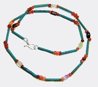 Necklace With Egyptian Faience And Stone Beads photo