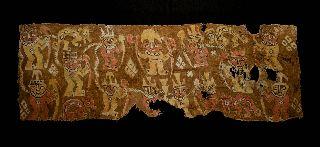 Pre Columbian Royal Chimu Textile Mantel 1000 - 1450 A.  D. photo