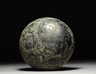 Ancient Greek Decorated Bronze Sacrificial Offering Phiale Bowl 350 B.  C. photo