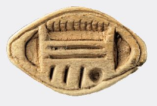 Egyptian Steatite Cowroid Seal photo