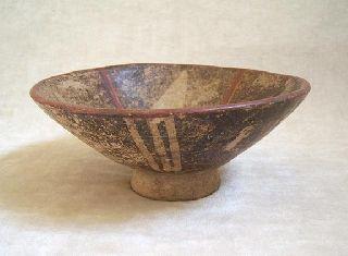 Pre - Columbian Large Narino Capuli Pedestal Bowl,  850 Ad photo