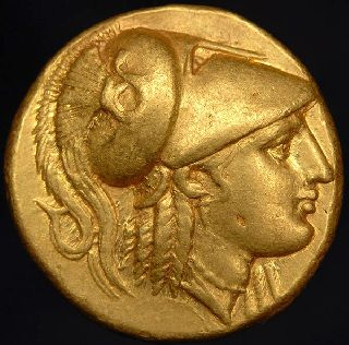 Ancient Greek Alexander The Great Gold Stater Coin photo