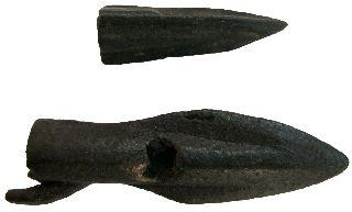 Thrace Triangular Bronze Arrows 40x13 25x8mm/ 7.  20g M - 237 photo