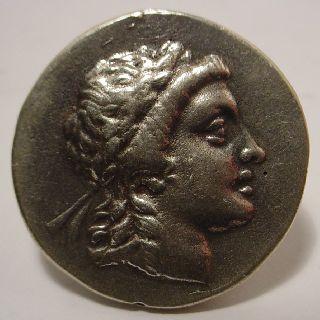 Ancient Greek Coin Solid Silver Queen Amazon Myrineon photo