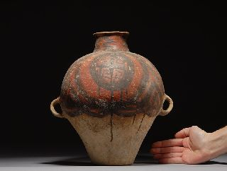 Authentic Ancient Chinese Neolithic Amphora Pot Vase Yangshao Culture 3000 B.  C. photo