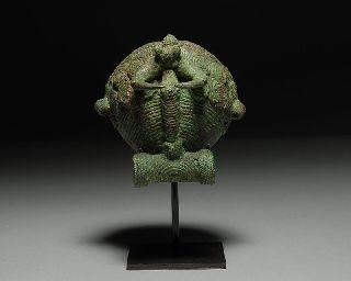 Rare Ancient Cambodian Dong Son Bronze Ritual Bell photo