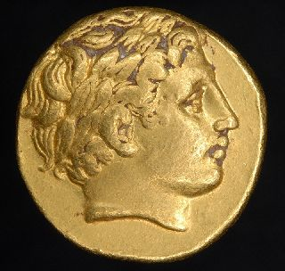 Ancient Greek Philip Ii Gold Stater Macedon Coin photo