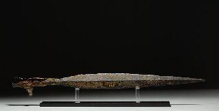 Ancient Frankish Late Roman - Dark Age Iron Spear photo
