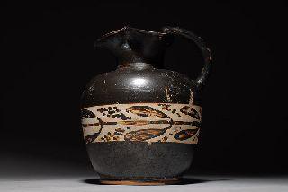 Ancient Greek Pottery Vase Xenon Apulian Ewer photo