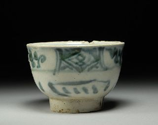 Ming Dynasty Hoi An Hoard Medieval Shipwreck Salvaged Artifact Wealth Rice Cup photo