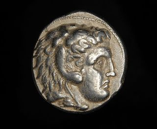 Ancient Greek Silver Tetradrachm Coin Of King Alexander The Great Of Macedon photo