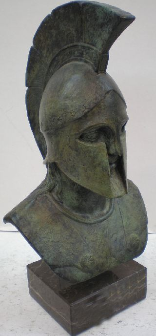 Leonidas King Of Spartans Bronze Bust - Battle Of Thermopylae - Handmade In Greece photo