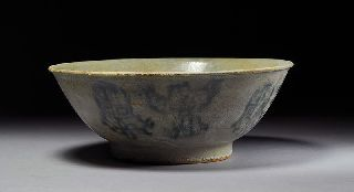 Antique Titanic Of The East Shipwreck Chinese Blue & White Shipwreck Symbol Bowl photo