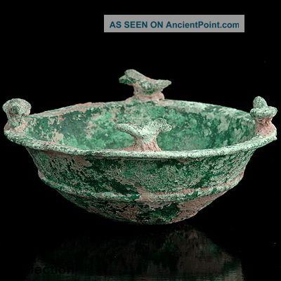 Rare Ancient Bronze Bowl Western Asiatic Bactrian Afghanistan 1st Millennium Bc Near Eastern photo