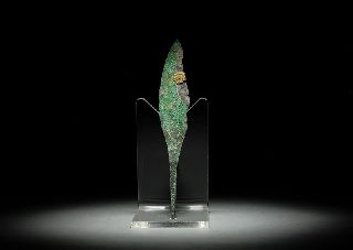 Ancient Persian Bronze Age Quad Arrow Head Weapon photo