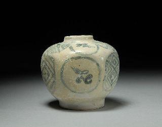 Antique Hoi An Hoard Shipwreck Hexagonal Porcelain Vase photo