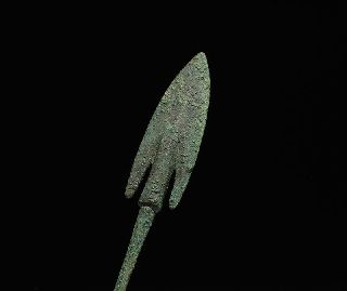 Ancient Persian Near Eastern Bronze Age Barbed Arrow Head Weapon photo