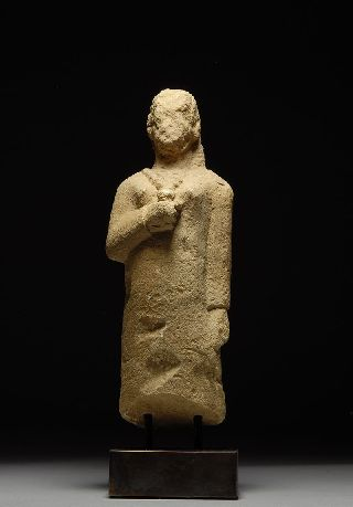 Ancient Iron Age Cypriot Limestone Statue Of A Votary - Mesaoria Cyprus photo