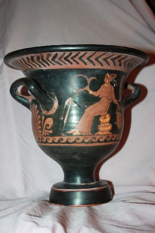 Quality Ancient Greek Pottery Red Figure Crater 4th Century Bc photo