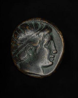 Ancient Greek King Philip Ii Ae18 Bronze Drachm Unit Coin - 359 B.  C. photo