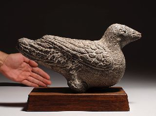 Large Ancient Chinese Song Dynasty Stone Statue Of Bird photo