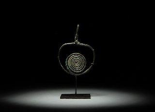 Ancient European Bronze Age Spiral Pendant photo
