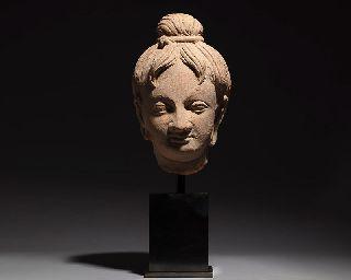 Ancient Gandharan Greek 3/4 Lifesize Buddha Statue Sculpture photo