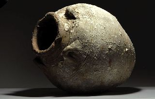 Huge Ancient Chinese Khmer Shipwreck Salvaged Marine Encrusted Trade Amphora photo
