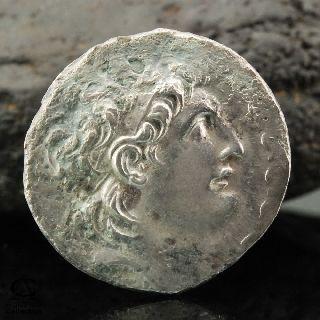 Ancient Silver Coin Seleukid Kingdom Antiochos Euergetes Tetradrachm 14.  76 G photo