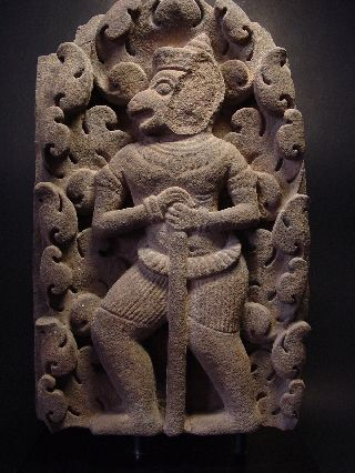 Rare Khmer Sandstone Relief Fragment Of Hanuman,  Angkor Wat ' Baphuon ' 11 - 12th C. photo