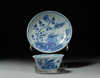 Ca Mau Cargo Antique Shipwreck China Porcelain Pheasant Tea Set photo
