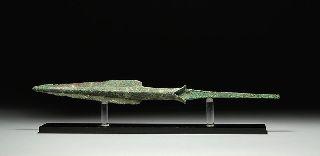 Ancient Persian Luristan Bronze Age Spear Dagger Blade Weapon photo